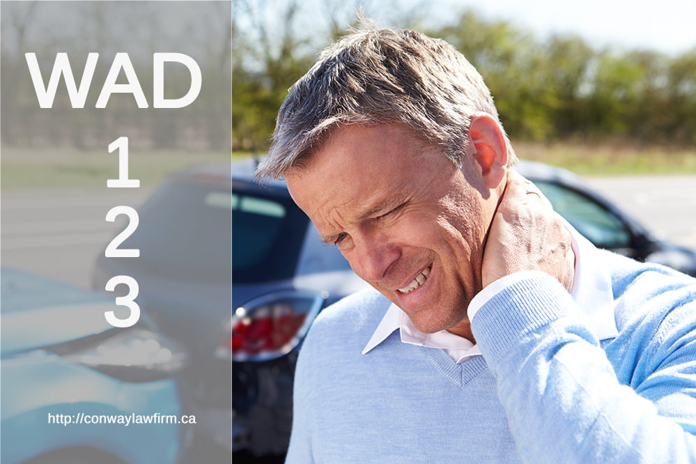 Whiplash Injuries WAD 1, 2 and 3? Cap and Injuries in Alberta