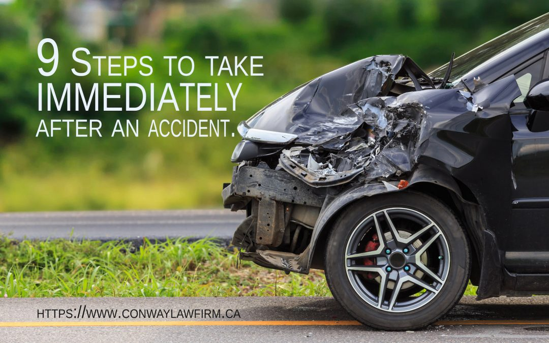 Important steps to take immediately after a car accident (MVA)